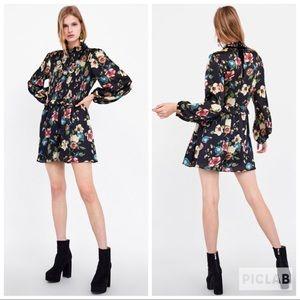 NWT • Zara • Floral Print Jumpsuit
